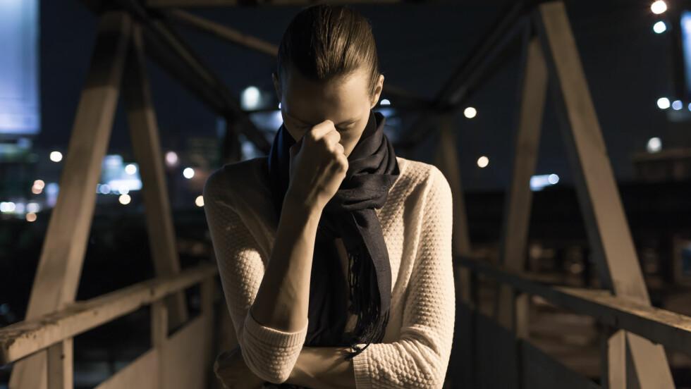 FÆLE TANKER: Tenker du ofte fæle ting og blir skremt av deg selv?  Foto: Shutterstock / KieferPix
