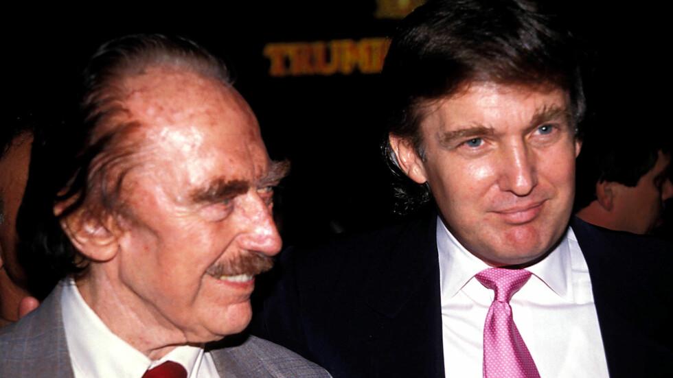 DONALD TRUMP: Donald Trump var konkurranseorientert og frampå akkurat som sin far, eldstesønnen Freddy var derimot av en helt annen karakter - noe som falt dårlig i smak hos pappa Fred. Her er Donald sammen med sin far.   Foto: Splash News