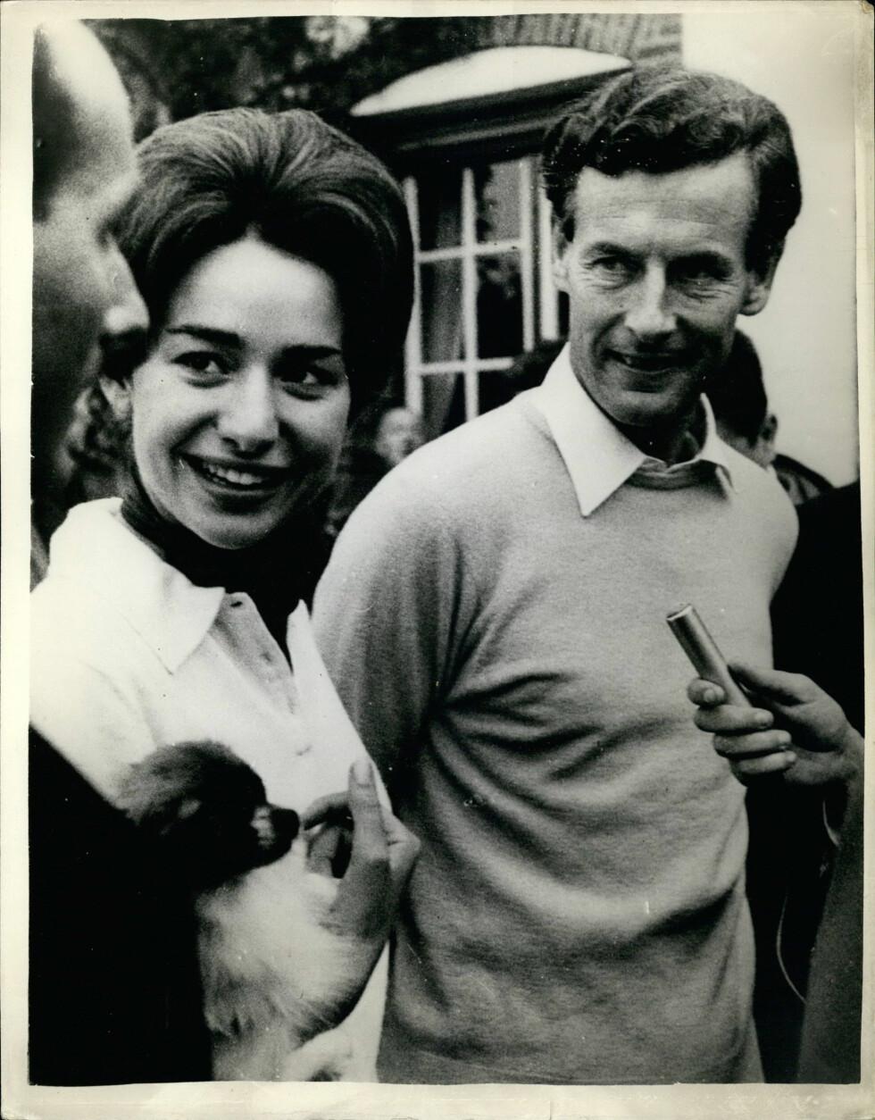 GIFTET SEG MED TRO KOPI AV MARGARET: I 1959 giftet Peter Townsend seg med sin sekretær - den 20 år gamle belgiske kvinnen Marie-Luce Jamagne. Foto: NTB Scanpix