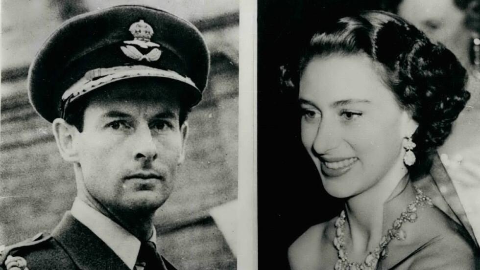 KONGELIG SKANDALE: Ettersom Peter Townsend var en skilt mann fikk ikke prinsesse Margaret lov til å gifte seg med sitt livs kjærlighet.  Foto: NTB Scanpix