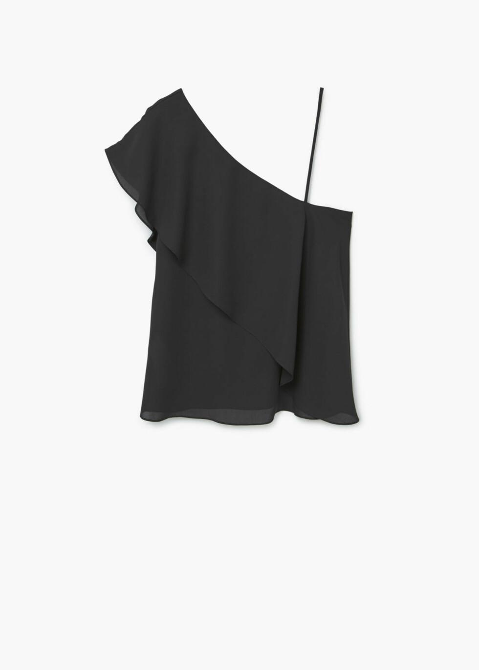 <strong>Topp fra Mango   kr 349   http:</strong>//shop.mango.com/NO/p1/damer/kl%C3%A6r/skjorter/bluser/topp-med-asymmetrisk-design?id=73089015_99&n=1&s=nuevo&ts=1478101469543