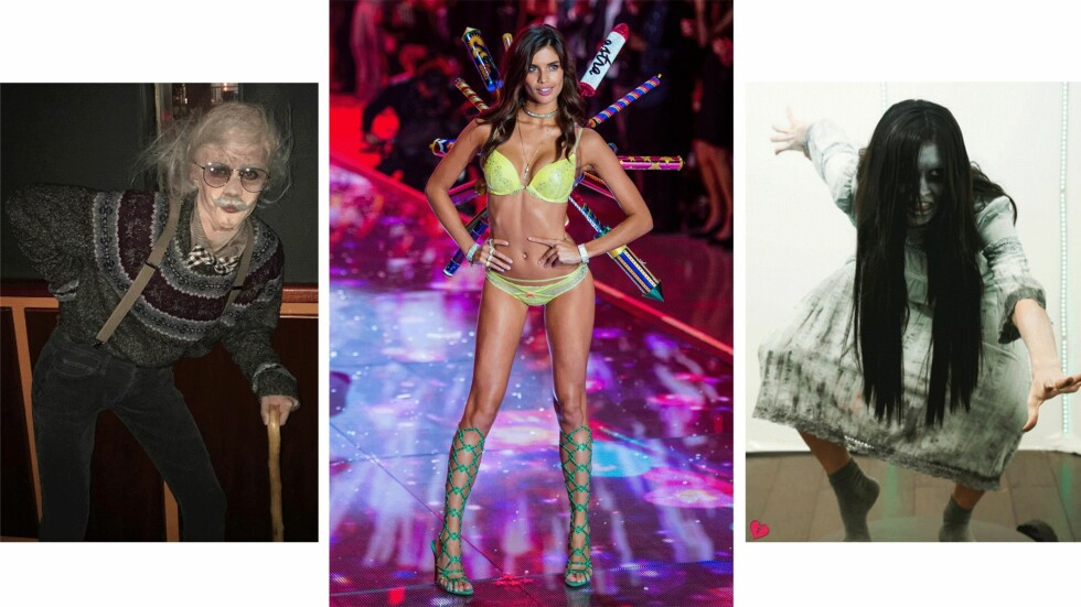SARA SAMPAIO: Victoria's Secret-modellen var ikke til å kjenne igjen under årets Halloween. Foto: Skjermdump / Instagram / @sarasampaio, Scanpix