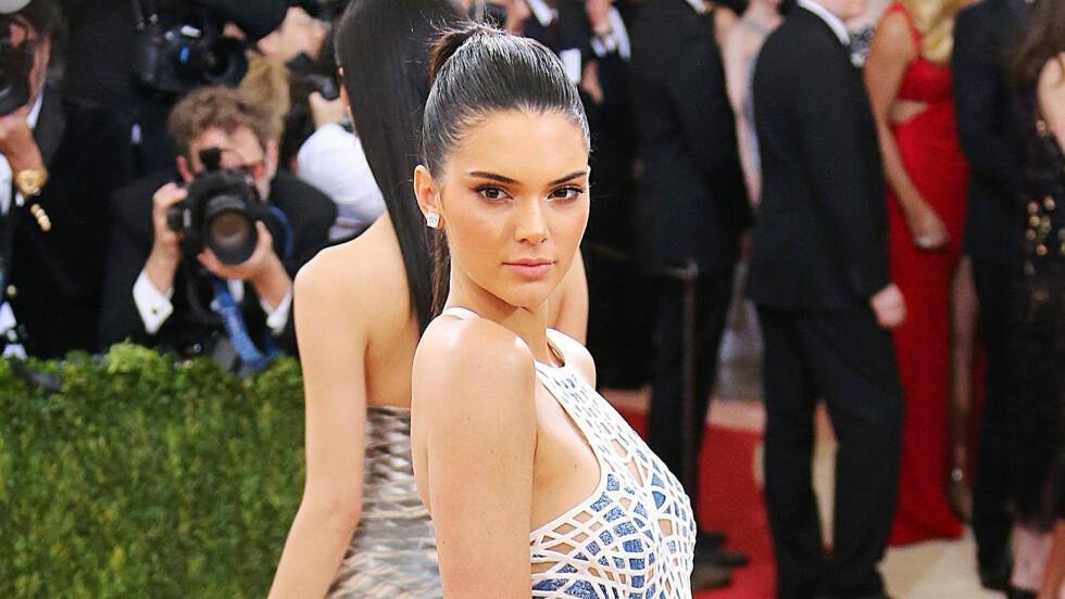KENDALL JENNER: Modellen Kendall Jenner deler sine hotteste skjønnhetstips med fansen - og tro det eller ei: de er laget med ingredienser som finnes på matbutikken! Foto: NTB Scanpix