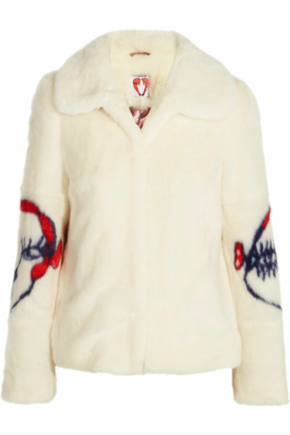 Fuskepels fra Shrimps via Net-a-porter.com | kr 5178 | https://www.net-a-porter.com/no/en/product/760695/Shrimps/junior-intarsia-faux-fur-coat