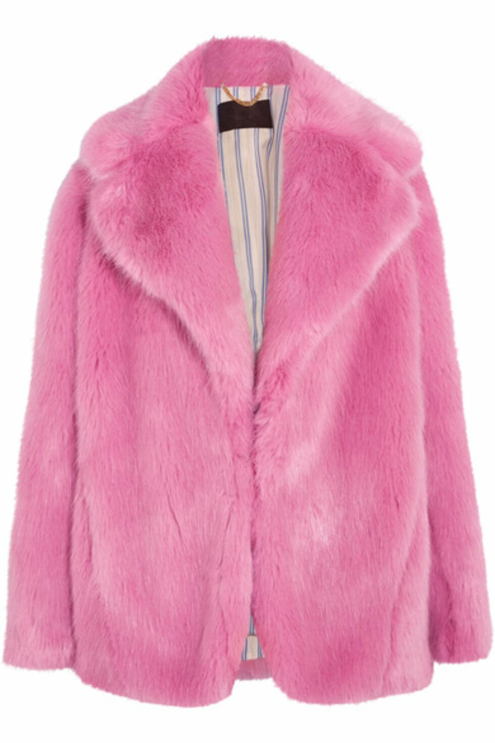 Fuskepels fra J.CREW via Net-a-porter.com | kr 5752 | https://www.net-a-porter.com/no/en/product/756032/JCrew/madison-faux-fur-coat