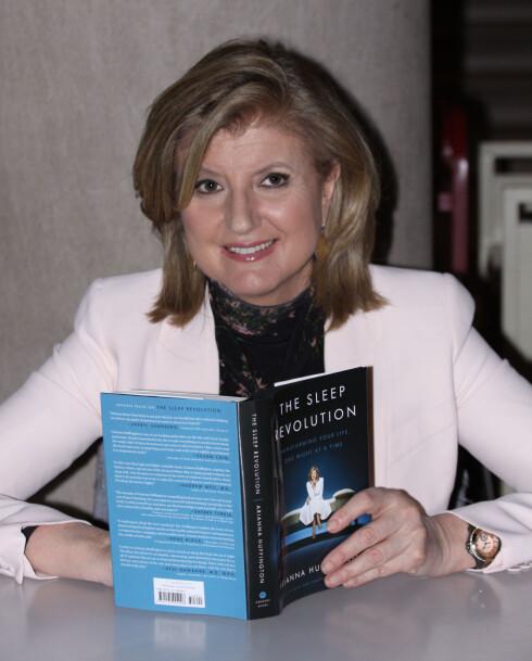 SØVN: Arianna Huffington, forfatter bak boka «The Sleep Revolution: Transforming Your Life, One Night at a Time» og kvinnen bak Huffington Post, mener at søvnmangel er en av vår tids største kriser. Foto: Polaris