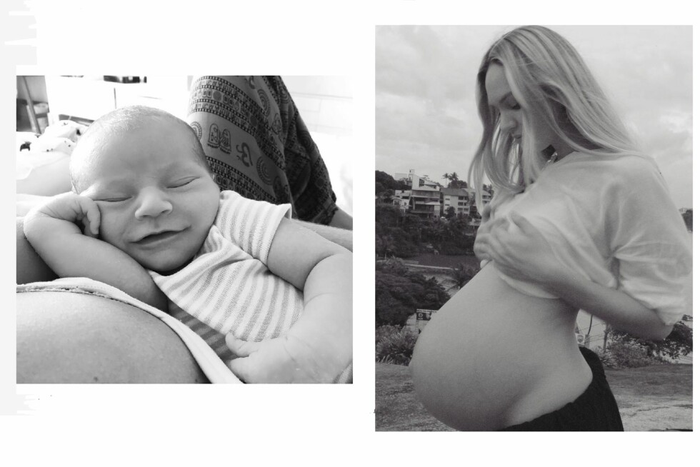 NYBAKT MAMMA: For ikke mange ukene siden fødte Candice sønnen Anaca. Foto: SipaUSA