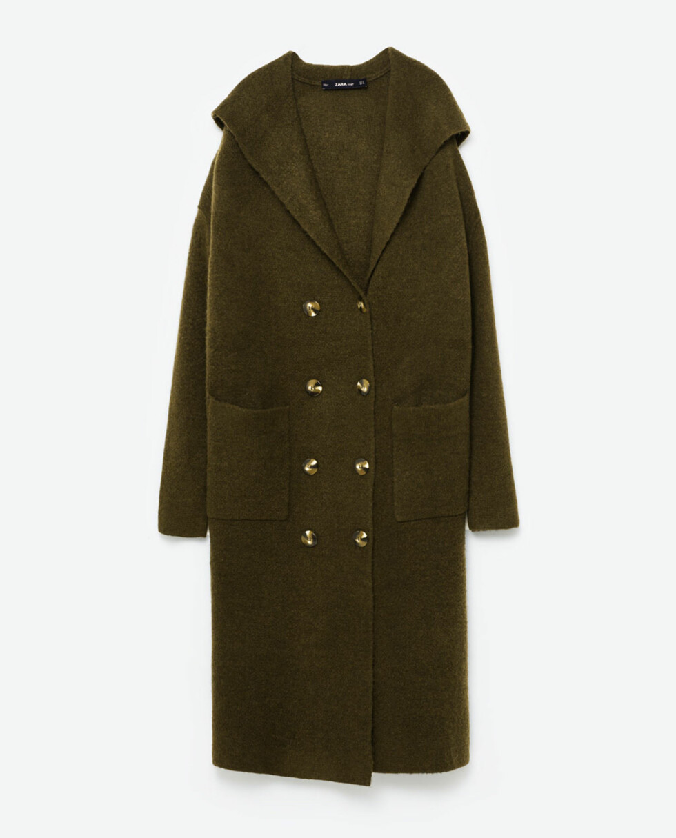 Kåpe fra Zara | kr 559 | http://www.zara.com/no/no/dame/vinterjakker/lange-ytterjakker/lang-jakke-med-hette-c499001p3832511.html