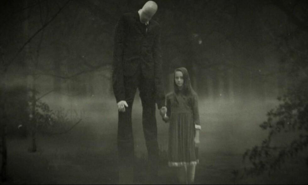 SLENDERMAN: «Beware the Slenderman», utforsker Internettmyten om «Slenderman», som beskrives som en høy, tynn mann uten ansikt.  Foto: HBO