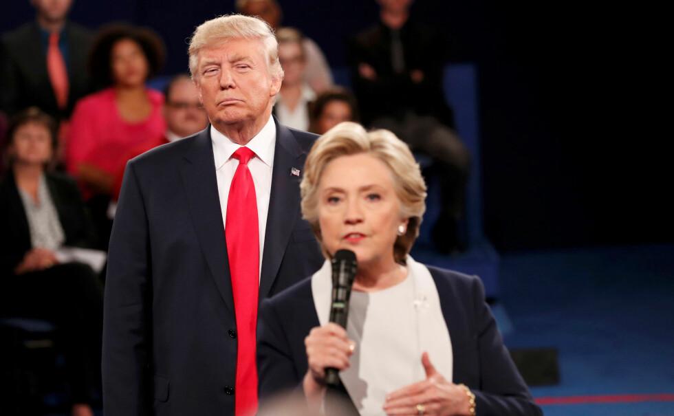 ULIKE: Det er ikke mange likheter mellom de to presidentkandidatene. Valget holdes natt til 9. november norsk tid.  Foto: Reuters