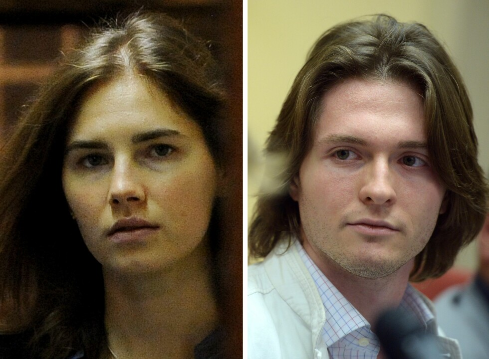 DØMT OG FRIKJENT: Amerikanske Amanda Knox og italienske Raffaele Sollecito ble i 2009 dømt for mordet på britiske Meredith Kercher.  Foto: Afp