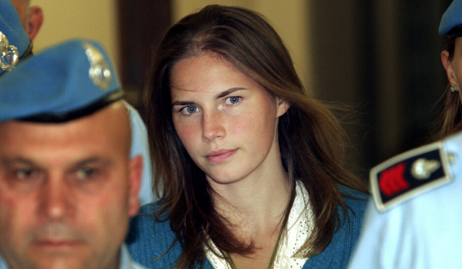 DØMT OG FRIKJENT: Amerikanske Amanda Knox ble i 2007 mistenkt for å ha drept romvenninnen i Italia. Siden 2007 har saken vært oppe i retten flere ganger. I september åpnet hun opp hos Fredrik Skavlan. FOTO: NTB Scanpix