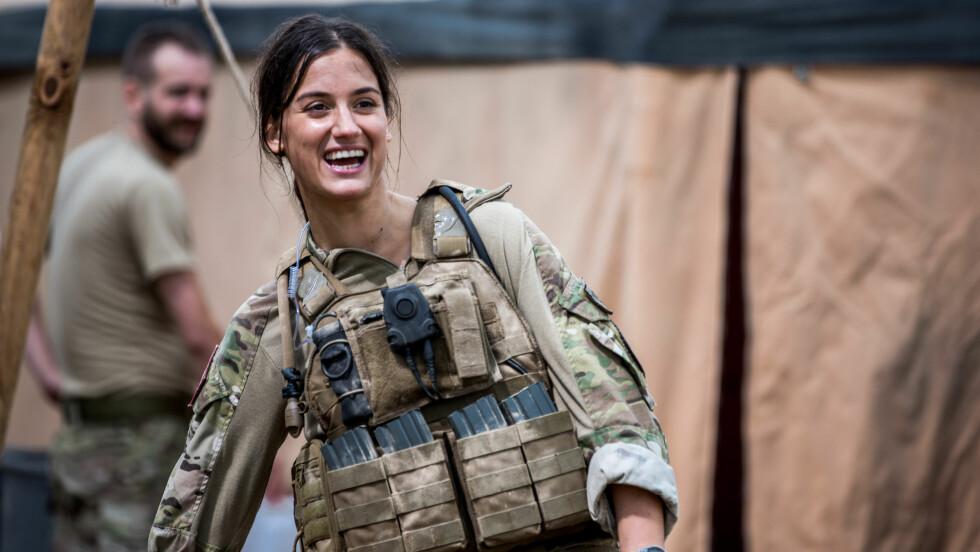 NOBEL: Den danske skuespilleren Danica Curcic spiller løytnant Adella Hanefi i den norske suksess-serien Nobel på NRK. Foto: Eirik Evjen // Monster Scripted
