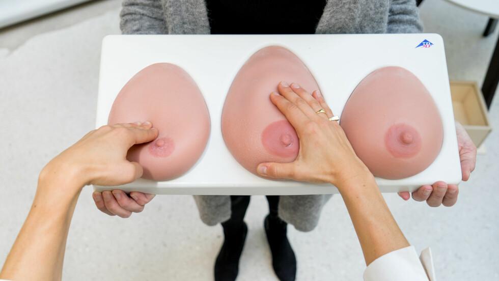 BRYSTKREFT: Hadde du klart å føle deg frem til brystet som har kreft?  Foto: Per Ervland/KK.no