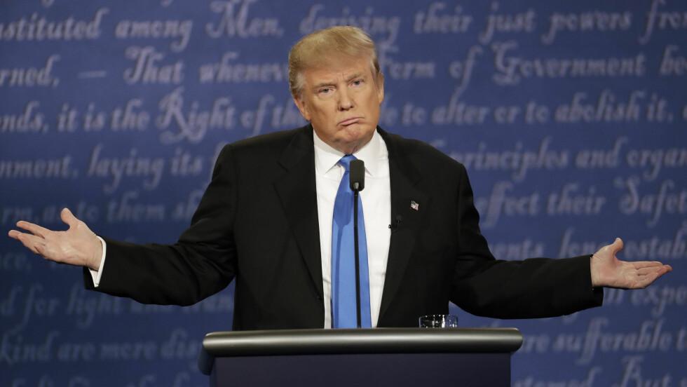 KVINNEFIENDTLIGHET: Presidentkandidat Donald Trump har fått mye negativ oppmerksomhet for sin nedlatende holdning mot kvinner. Foto: Ap