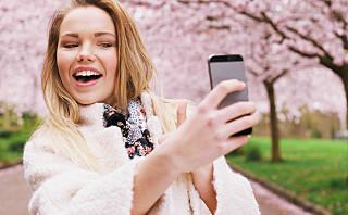 Vi ønsker å finne ut hvordan ansiktet vårt ser ut gjennom å ta selfies