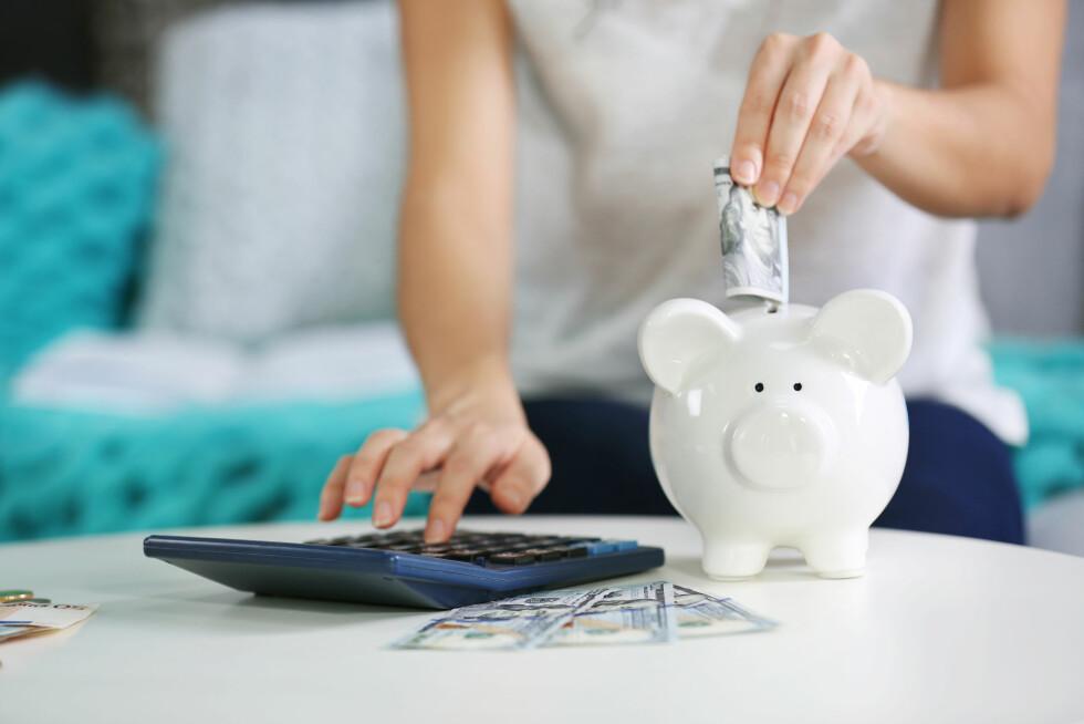 BUFFER: Ekspertene er enige om at det alltid er best å spare, slik at du har tilstrekkelig med penger i bakhånd dersom du skulle trenge det. Foto: Shutterstock / Africa Studio