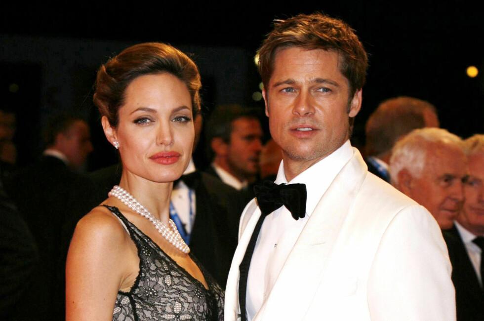<strong>BRUDD ETTER 11 ÅR:</strong> Angelina Jolie og Brad Pitt var inntil nylig et av Hollywoods mest solide par. Nå har Angelina Jolie tatt ut skilsmisse. Foto:  FOTO: NTB Scanpix