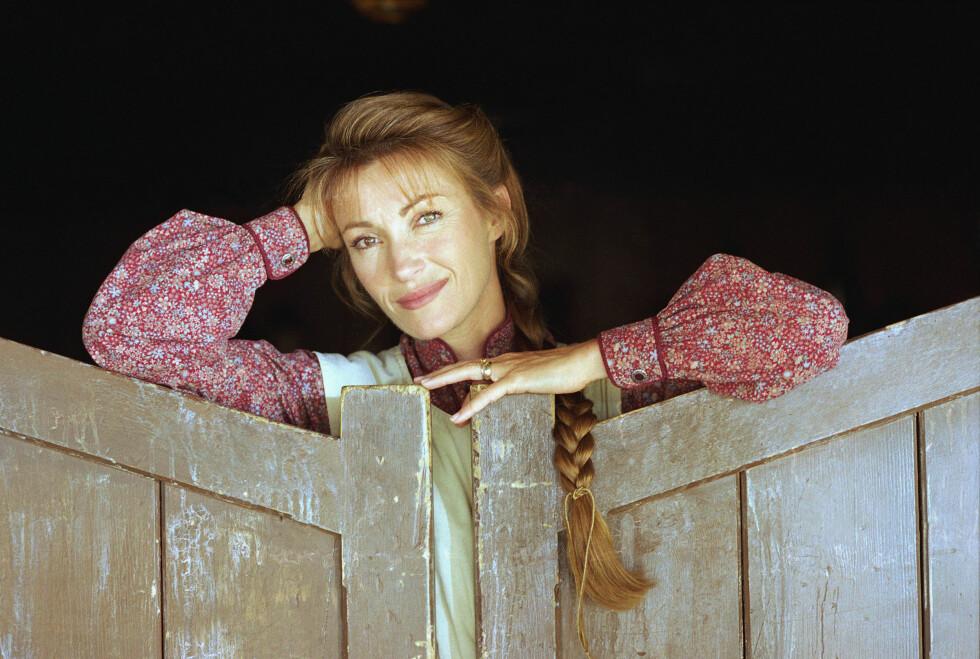 På settet til Dr. Quinn, Medicine Woman 1996. Foto: Ap