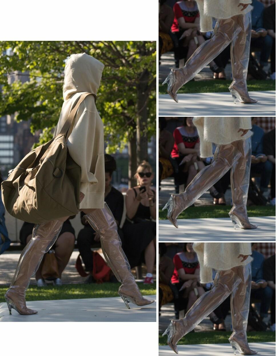 YEEZY: De transparente skoene til Kanye Wests Yeezy-kolleksjon har blitt ganske så populære. Foto: Scanpix
