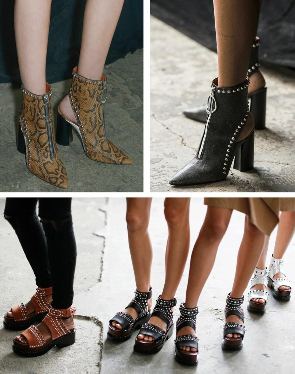 3.1 PHILLIP LIM: Skoene som er vist både øverst og nederst er trendsko som kjedebutikkene garantert vil la seg inspirere av. Foto: Scanpix