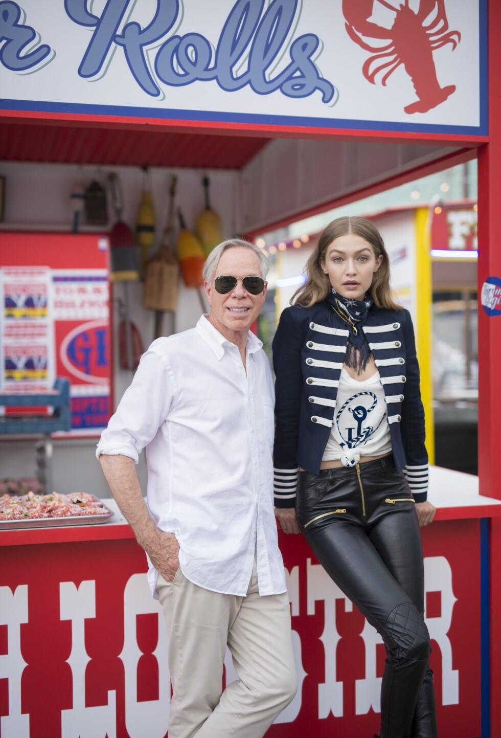 Tommy Hilfiger og Gigi Hadid Foto: Rex Features