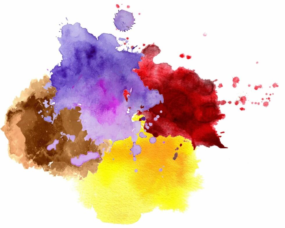 BRUNE ØYNE: Bruntoner, gult, rødt og lilla er gode farger for deg med brune øyne. Foto: Scanpix