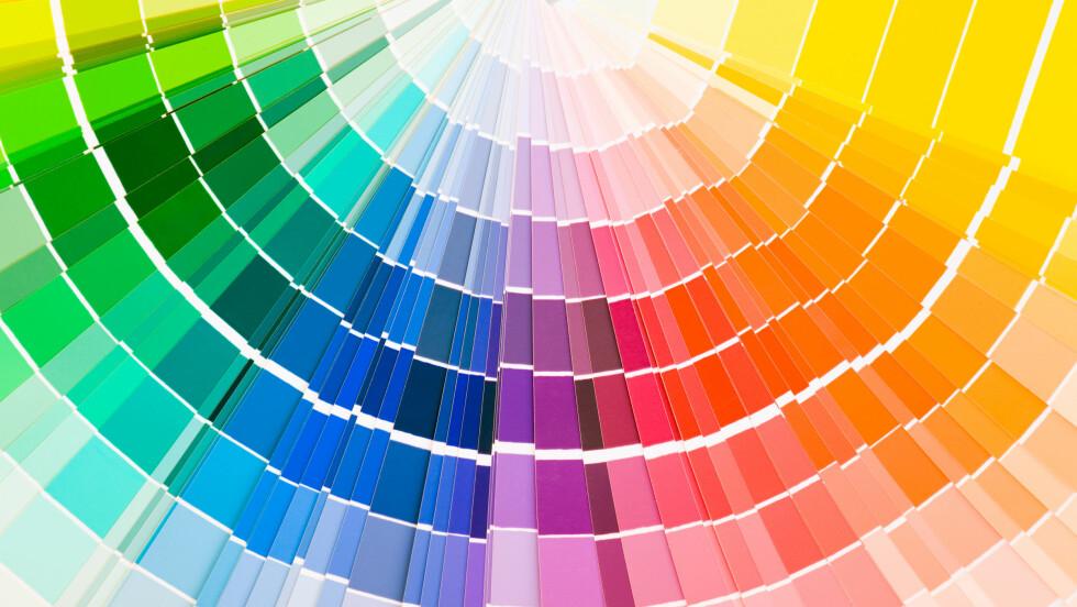 FARGER: Lurer du på hvilke farger som passer deg best? Sjekk det ut nede i saken! Foto: Shutterstock / zooropa
