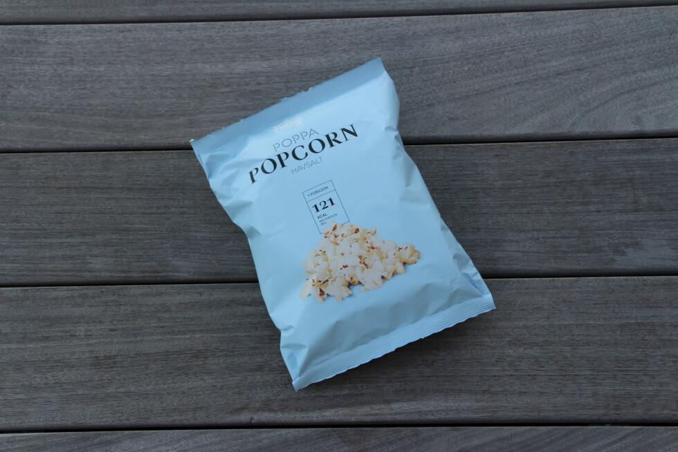 POPCORNNYHET: Sørlandschips Poppa Popcorn Havsalt.  Foto: KK