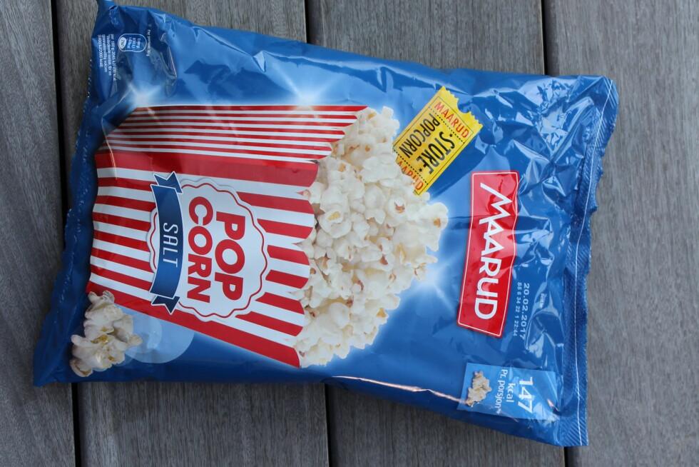 POPCORNNYHET: Maarud Ekstra store popcorn salt.  Foto: KK
