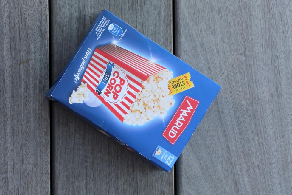 POPCORNNYHET: Maarud Ekstra store popcorn salt uten palmeolje.  Foto: KK