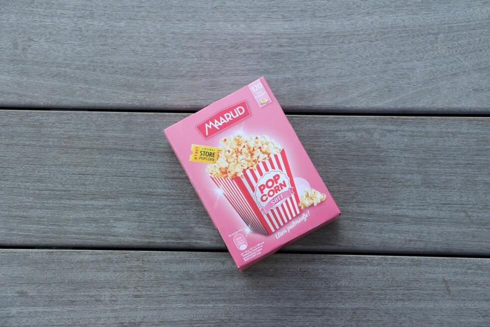 POPCORNNYHET: Maarud Ekstra store popcorn søtt uten palmeolje.  Foto: KK
