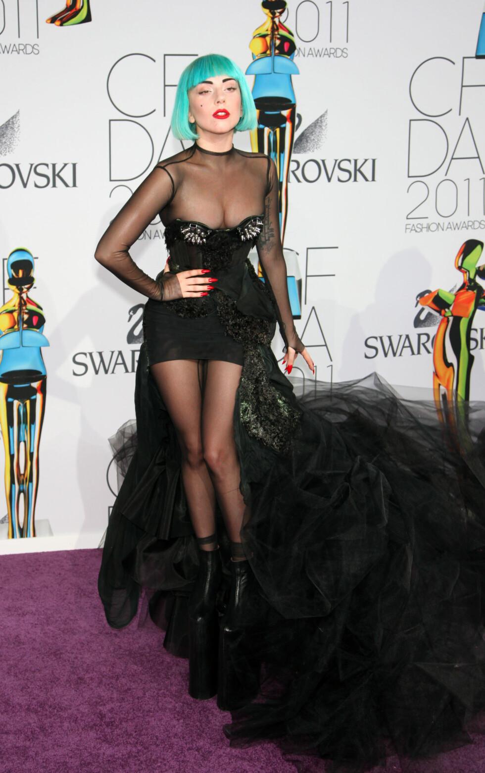 <strong>SIN EGEN STIL:</strong> Lady Gaga (30) er like kjent for sin særegne stil som for sin musikk. Foto: Reuters