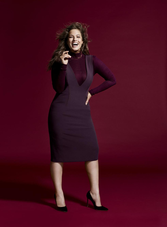 ASHLEY GRAHAM: Hun er en av modellene som fronter den nye kolleksjonen til Lindex. Foto: Produsenten