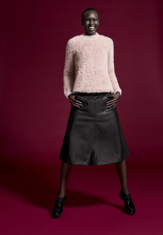 ALEK WEK: Hun er en av modellene som fronter den nye kolleksjonen til Lindex. Foto: Produsenten