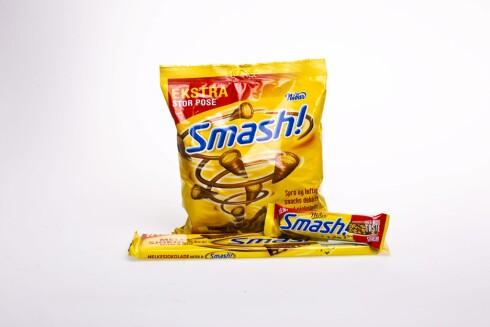 SØTT, SALT OG FETT: Smash er eksempel på et godteri/snacks som trigger suget - og det er vanskelig å spise kun én, nettopp på grunn av at det inneholder sukker, salt og fett.  Foto: VG