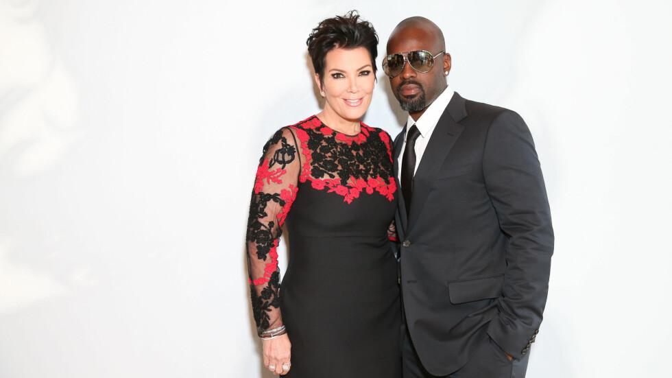 STØDIG PAR: Hele Kardashians mor, Kris Jenner (60), har de siste årene datet Corey Gamble (35). - Flere menn synes også det er greit å ha kvinner som er litt eldre, fordi folk er mindre fordomsfulle i dag, Eva Tryti.  Foto: SipaUSA