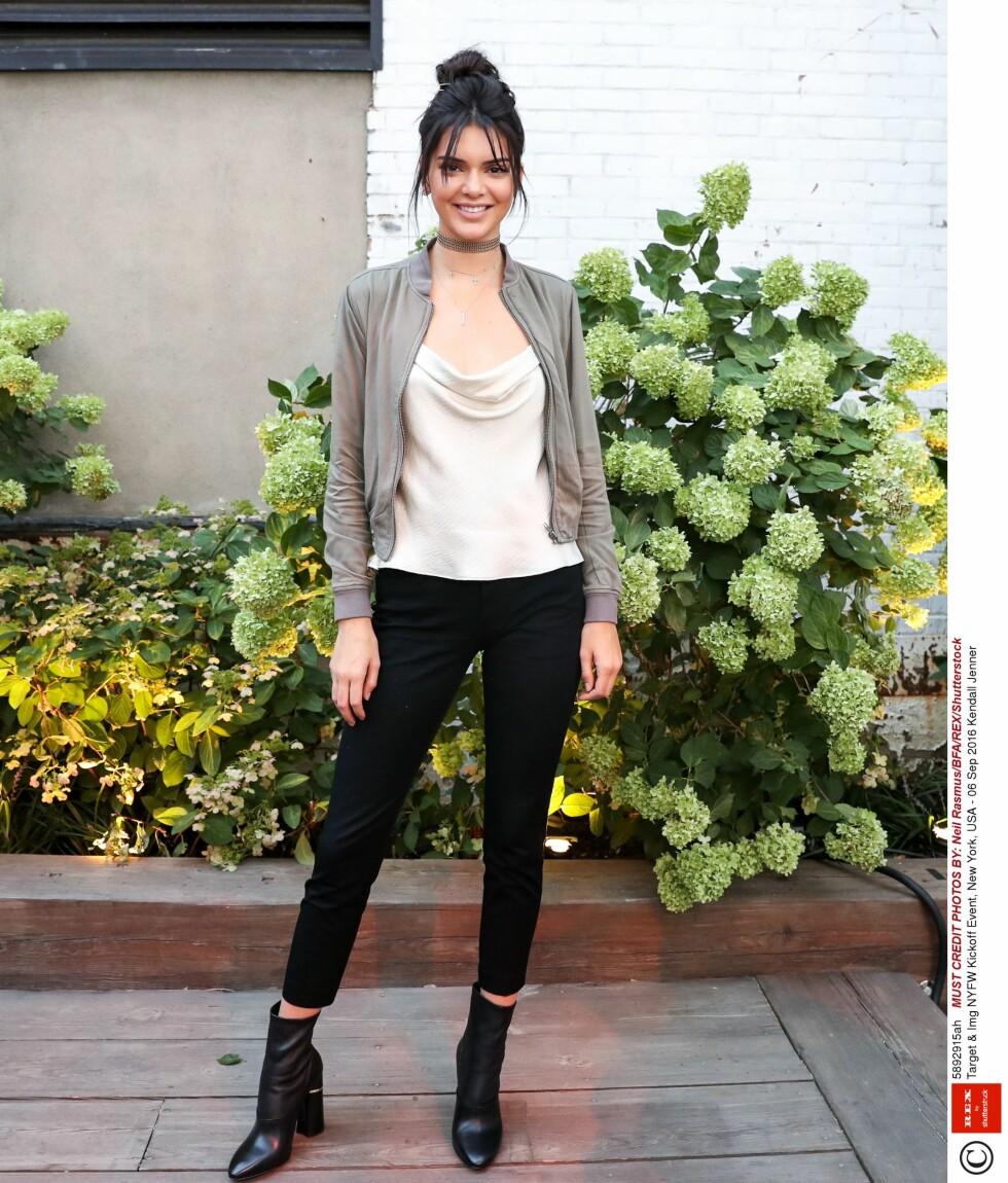 SUPERMODELL: Kendall Jenner har blitt en av verdens største modeller. Her er hun under kickoff på NYFW.  Foto: Rex Features