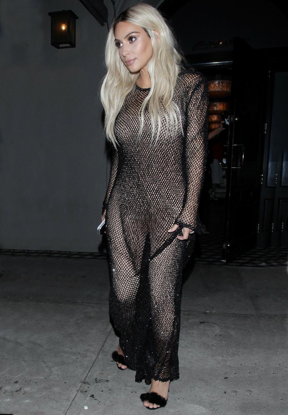 <strong>TILBAKE I FORM:</strong> Kim Kardashian har siden hun fødte sønnen Saint i desember trent hardt for å få tilbake kroppen sin.  Foto: Broadimage