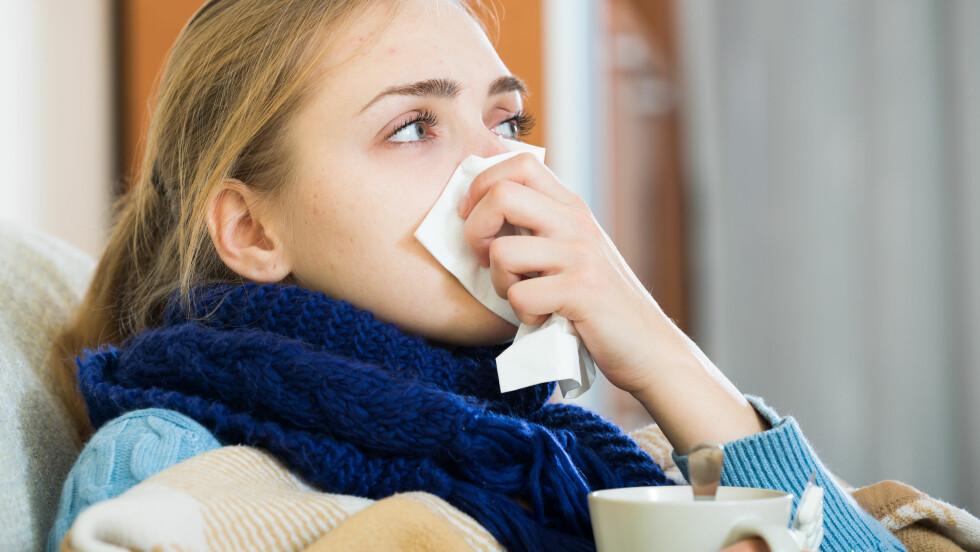 SEIG FORKJØLELSE? Et av symptomene på sinkmangel er svekket immunforsvar. Foto: Scanpix