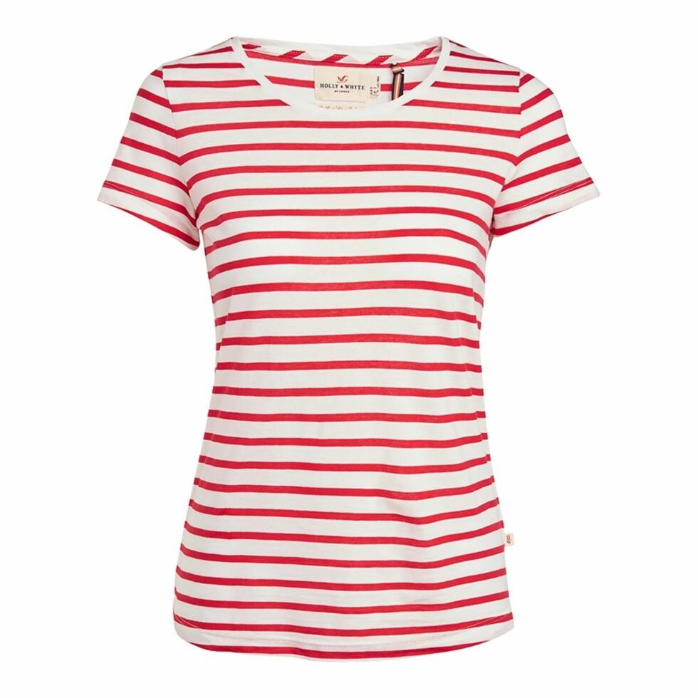 <strong>T-skjorte fra Lindex | kr 149 | http:</strong>//www.lindex.com/no/dame/overdeler/topper-t-skjorter/7454694/Stripet-topp/?styleId=82535265