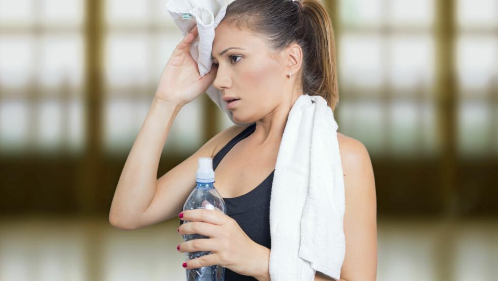 SVETTE ETTER TRENING: Noen gang lurt på hvorfor du svetter lenge etter trening? Vi har funnet svaret! Foto: Shutterstock / Dexailo