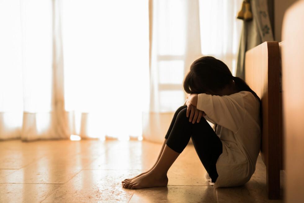 PSYKISKE REAKSJONER: Voldtektsofferet kan få langvarige psykiske reaksjoner. Foto: Shutterstock / VectorLifestylepic
