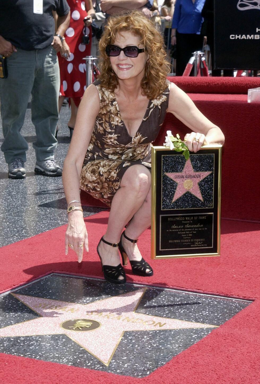 Sarandon mottok sin stjerne på Hollywood Walk of Fame i 2002. Foto: REUTERS