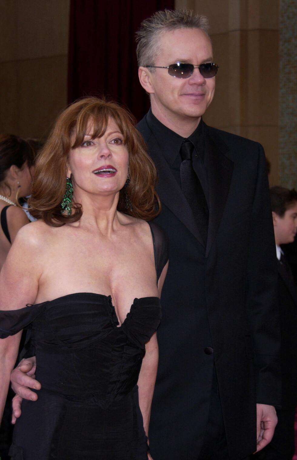 Sarandon var gift med Tim Robbins i over 20 år.  Foto: Ap