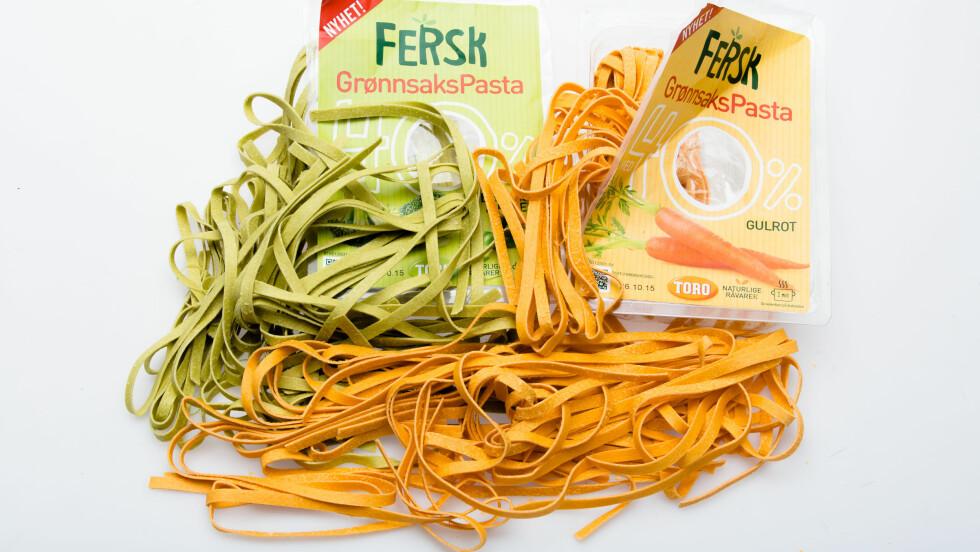 <strong>GRØNNSAKSPASTA:</strong> Ifølge eksperten er ikke grønnsakspasta noe særlig sunnere enn vanlig pasta. Likevel ville hun valgt den, på grunn av smak og farge. MEN - Lise von Krogh ville hatt grønnsaker ved siden av, i tillegg til pastaen.  Foto: NTB Scanpix/ VG