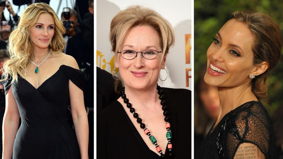 STJERNER: Noen av verdens største kvinnelige skuespiller startet alle sin karriere som unge talenter. Hvilken film var deres første hovedrolle? En av dem spilte pizzaservitør, mens en annen hadde hovedrolle som hacker. Se den fullstendige lista i saken!  Foto: NTB scanpix