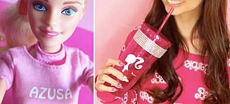 Azusa (34) fra LA har brukt over en halv million kroner på Barbie-samlingen sin