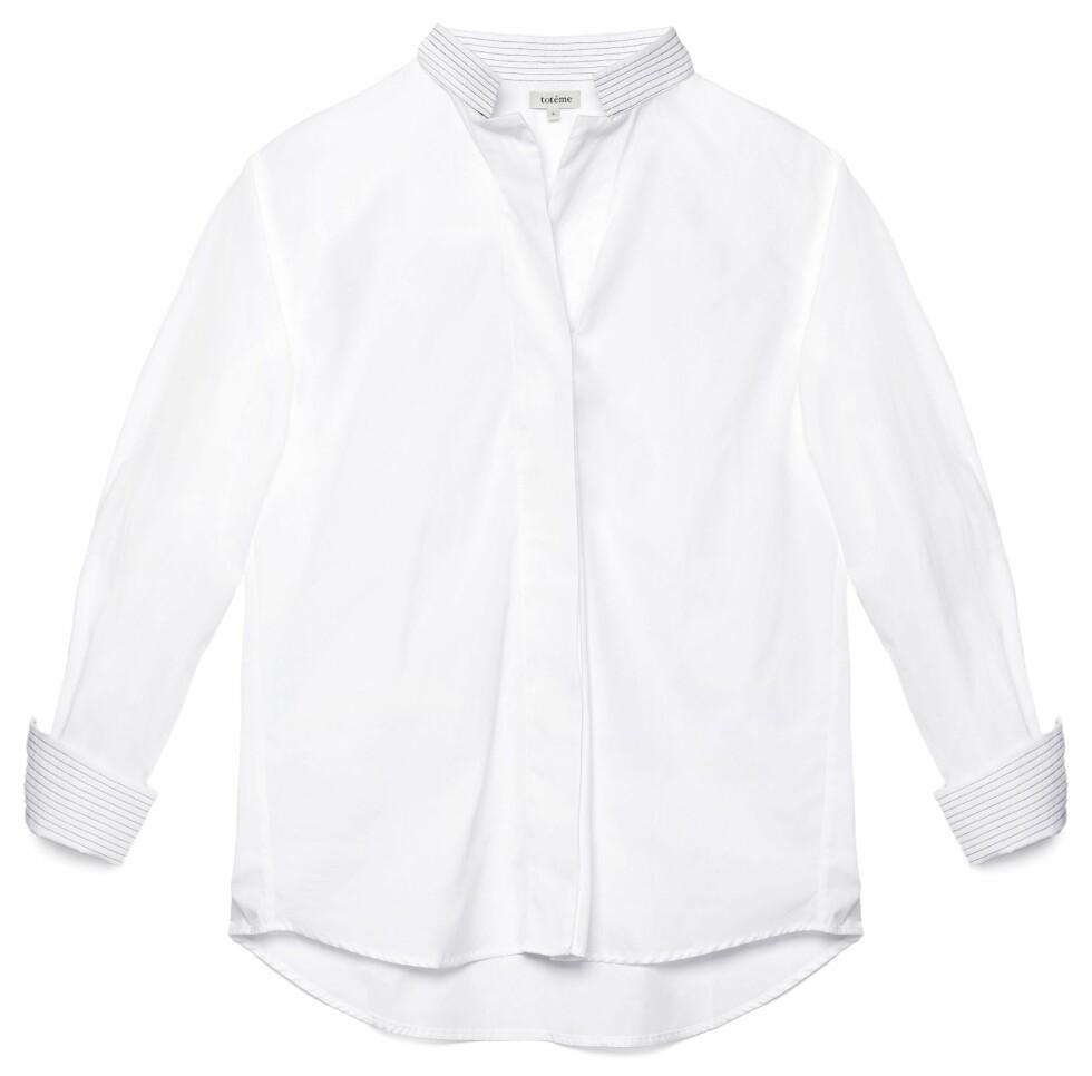 Skjorte fra Toteme, kr 1600. Foto: Produsenten