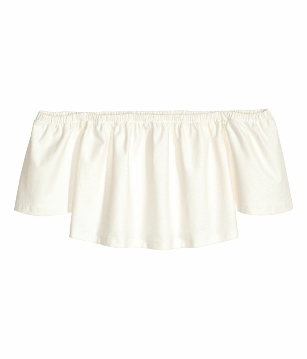Off-the-shoulder bluse dra H&M | kr 249 |  Foto: Produsenten